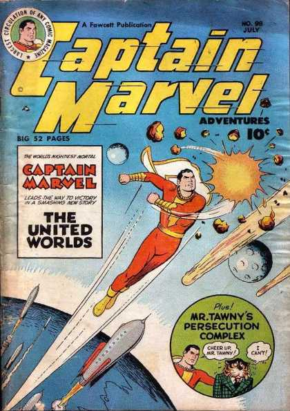 Captain Marvel Adventures 98 - The United Worlds - July - 52 Pages - Superhero - Fawcett - Clarence Beck