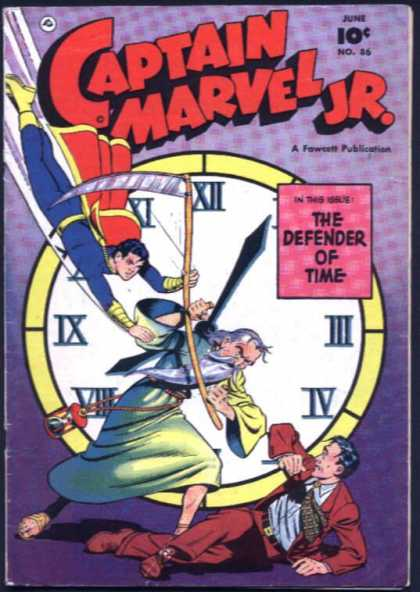 Captain Marvel Jr. 86 - Cape - Clock - Man - Father Time - Scythe
