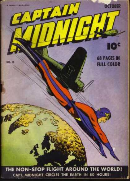 Captain Midnight 13 - Full Color - Airplane - Flight - World - Earth