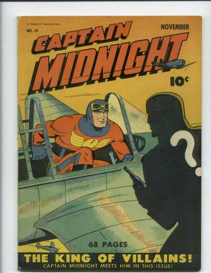 Captain Midnight 14 - King - Villains - Question Mark - Airplane - Issue