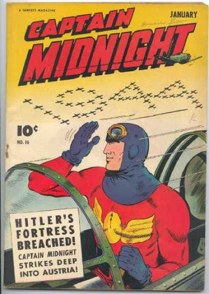 Captain Midnight 16 - January - 1944 - Airplane - Pilot - Fortress