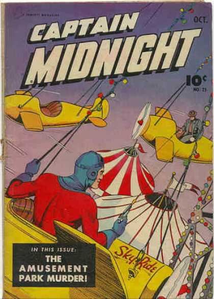 Captain Midnight 25 - Aeroplane - Flags - The Amusent Part Murde - Lights - Threads