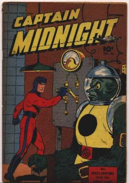 Captain Midnight 55 - Superhero - Light - Enemy - Costume - Monster