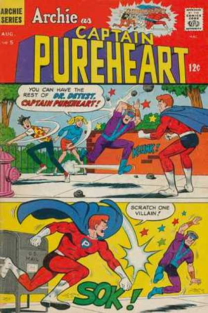 Captain Pureheart 5 - Archie Series - Aug - Approved By The Comics Code Authority - Tree - Drdetest