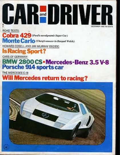 Car and Driver - December 1969