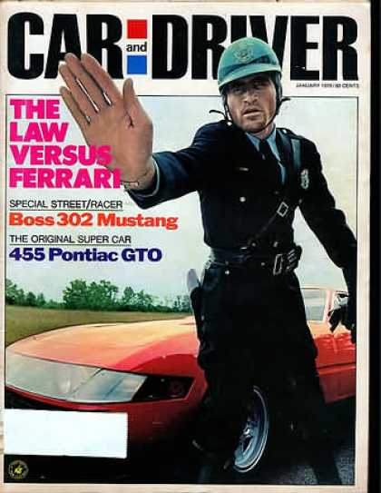 Car and Driver - January 1970