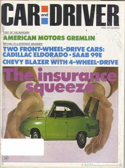 Car and Driver - April 1970