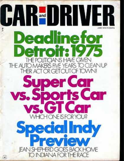 Car and Driver - June 1970