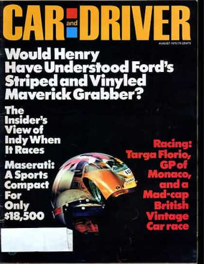 Car and Driver - August 1970