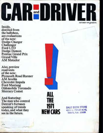 Car and Driver - October 1970