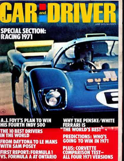 Car and Driver - June 1971