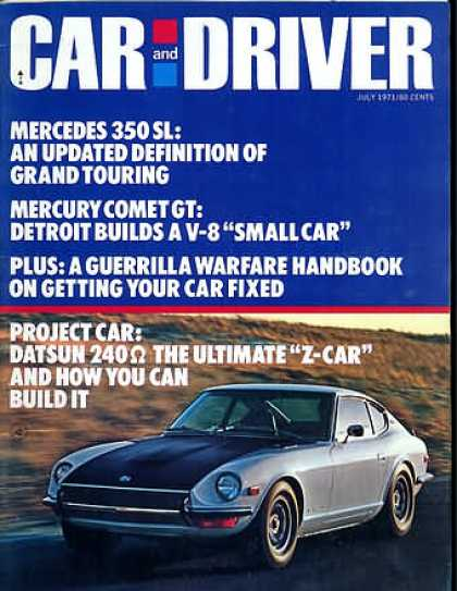 Car and Driver - July 1971
