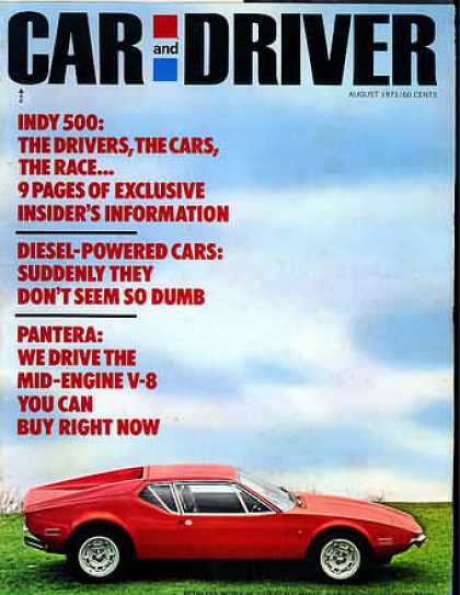 Car and Driver - August 1971