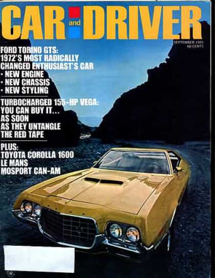 Car and Driver - September 1971