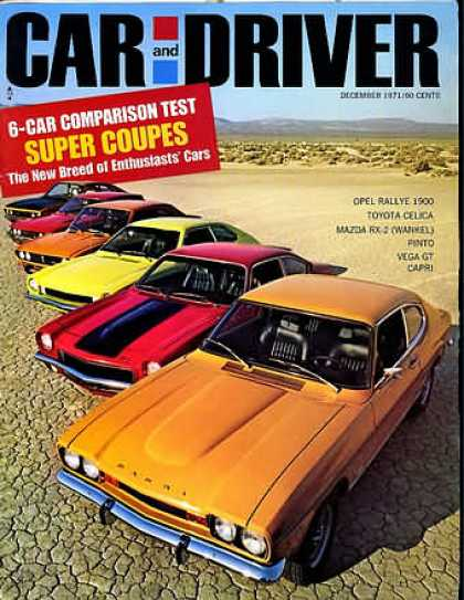 Car and Driver - December 1971