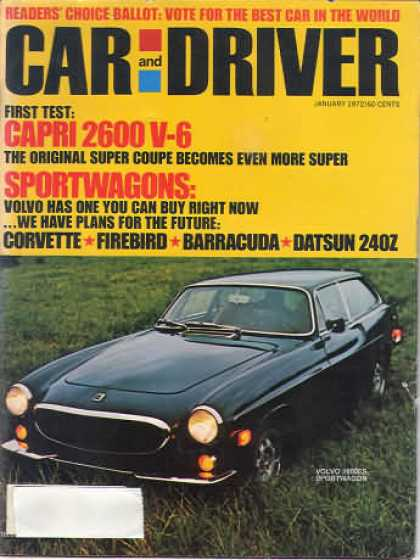 Car and Driver - January 1972