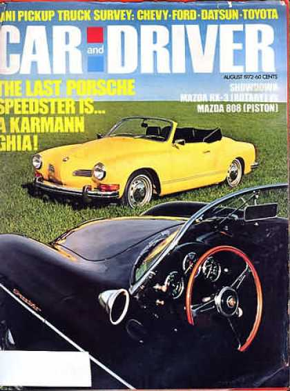 Car and Driver - August 1972