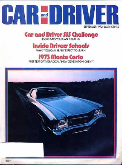 Car and Driver - September 1972