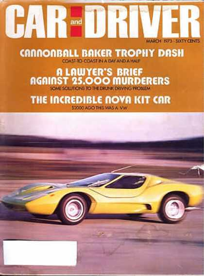 Car and Driver - March 1973
