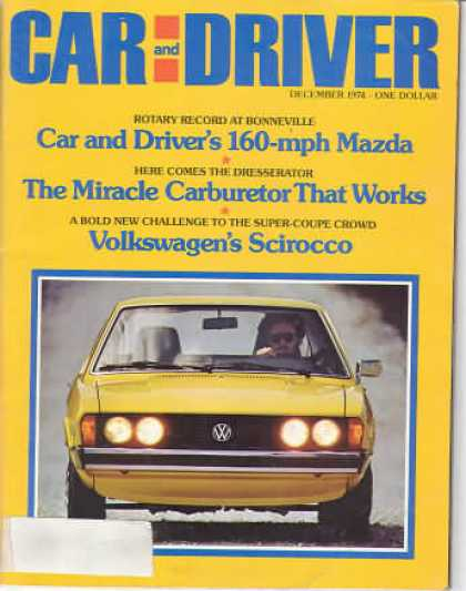 Car and Driver - December 1974