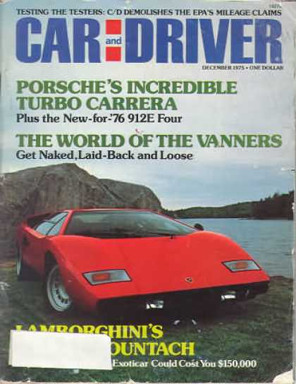 Car and Driver - December 1975
