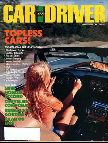 Car and Driver - August 1976