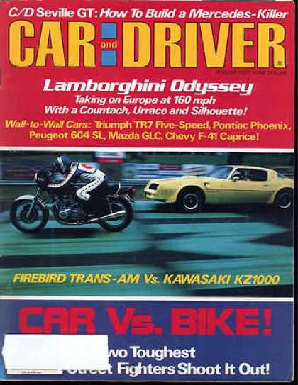 Car and Driver - August 1977