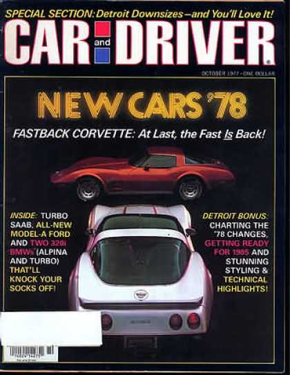 Car and Driver - October 1977