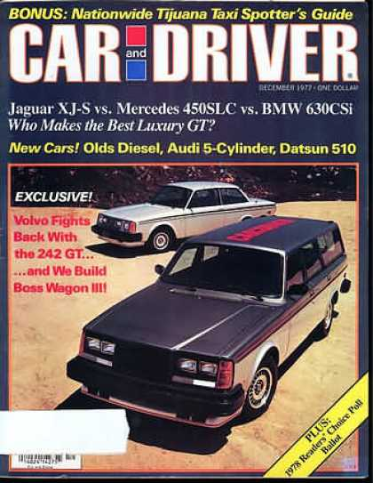 Car and Driver - December 1977