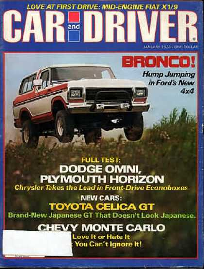 Car and Driver - January 1978