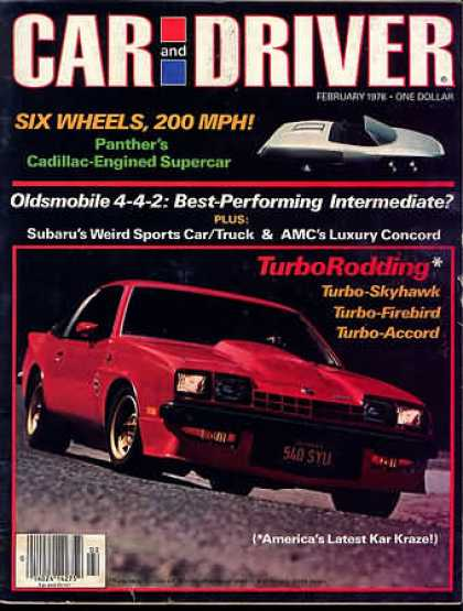 Car and Driver - February 1978