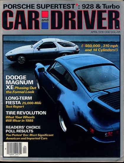 Car and Driver - April 1978