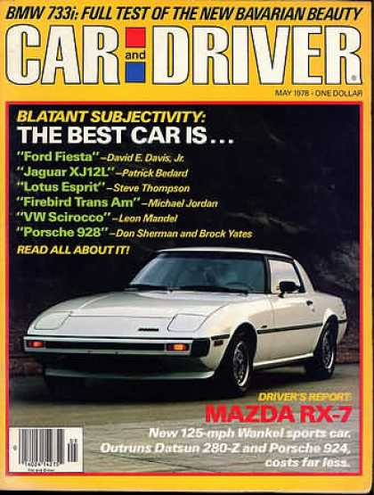 Car and Driver - May 1978