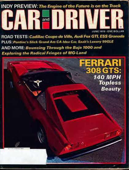 Car and Driver - June 1978