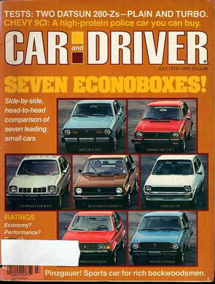 Car and Driver - July 1978