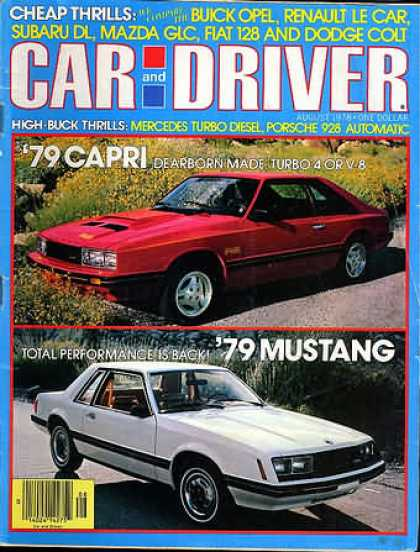 Car and Driver - August 1978