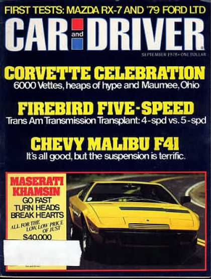 Car and Driver - September 1978