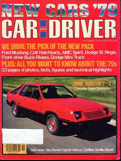 Car and Driver - October 1978