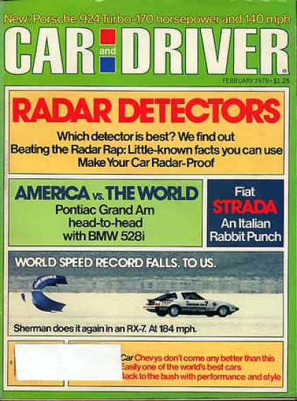 Car and Driver - February 1979