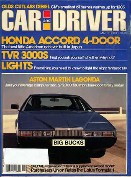 Car and Driver - March 1979