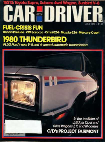 Car and Driver - July 1979