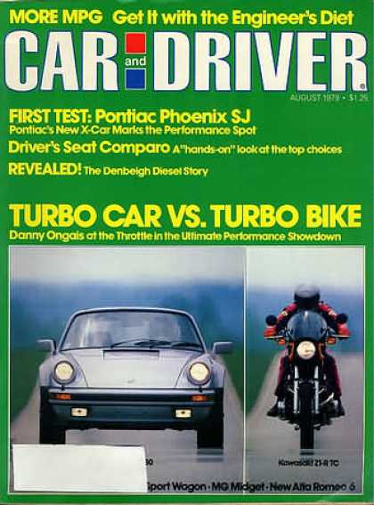 Car and Driver - August 1979
