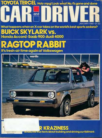 Car and Driver - January 1980