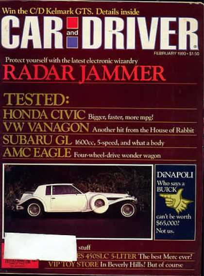 Car and Driver - February 1980