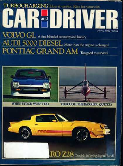 Car and Driver - April 1980
