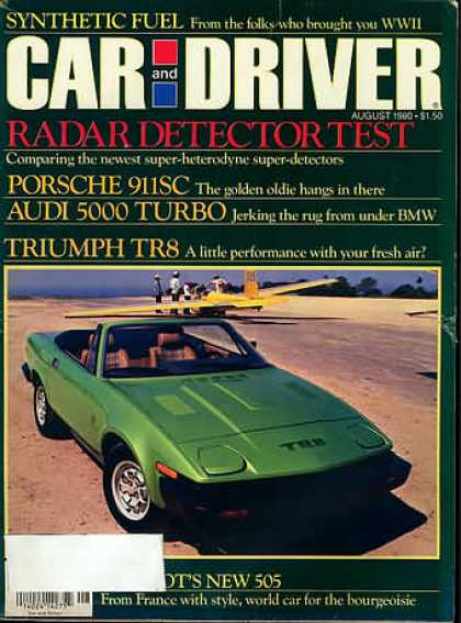 Car and Driver - August 1980