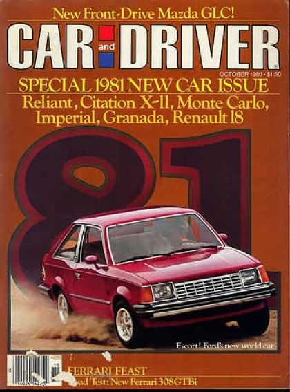Car and Driver - October 1980
