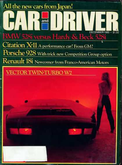 Car and Driver - December 1980