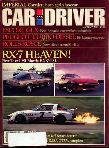Car and Driver - January 1981