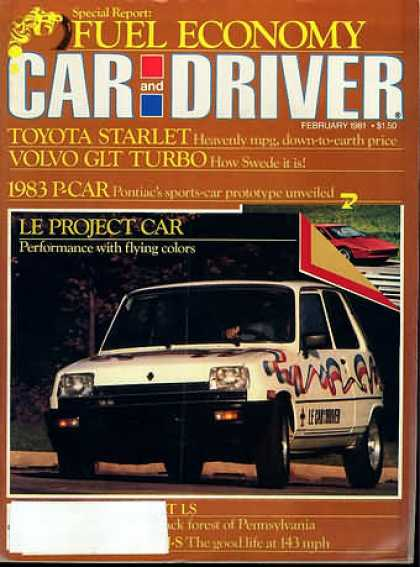 Car and Driver - February 1981
